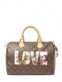 0e0fb7322269 Hand Painted Monogram Canvas Speedy 35 by Louis Vuitton at Gilt   Louisvuittonhandbags Louis Vuitton Accessories