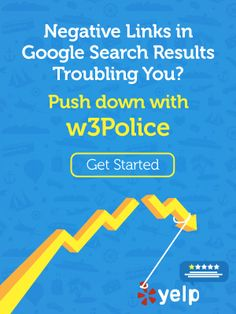 Negative Links in #Google #SearchResults hurting your #BrandName? Push Down with w3police