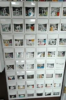 Why Have I never thought of this before Don& throw away the extra letters not needed Save them for another day! is part of Craft room organization - Scrapbook Storage, Scrapbook Organization, Craft Organization, Scrapbook Rooms, Scrapbooking, Scrapbook Letters, Organizing Ideas, Space Crafts, Home Crafts