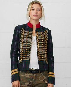 Denim & Supply Ralph Lauren Braided Plaid Military Jacket on shopstyle.com
