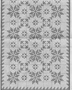 New Ideas Crochet Doilies Filet Cross Stitch Cross Stitch Borders, Cross Stitch Designs, Cross Stitching, Cross Stitch Embroidery, Cross Stitch Patterns, Embroidery Patterns, Hand Embroidery, Filet Crochet Charts, Crochet Diagram