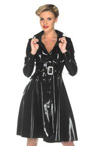 Bacall Raincoat: From our latex Mademoiselle Jackets, Coats, Waistcoats and Boleros for Woman - The Libidex Latex Clothing Range.