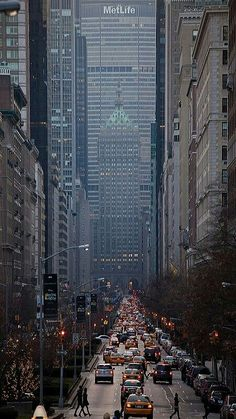 I left a part of my heart in New York ... missing you after all these years...  Park Avenue, Looking South NYC