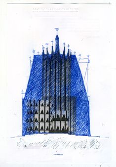 Beniamino Servino. Palimpsest Cathedral. [Based on a digital photomontage by Luca Galofaro].