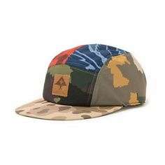 5227383c32a43 The LRG Camo Collective 5 panel hat is a low-profile camper hat with a