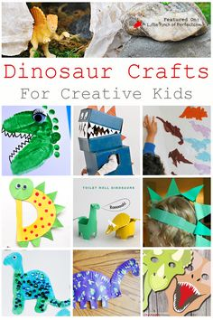 Dinosaur Crafts & Activities for Kids (Love to Learn Linky #37) | A Little Pinch of Perfect