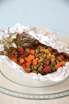 Spice Market Sweet Potato and Lentil Packets Recipe | Vegetarian Times