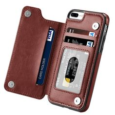 81f18cc457 For iPhone 7 7 Plus Case High-grade Magnetic PU Leather Wallet Case Credit  Card Holder Slot Shockproof Flip Cover for Apple iPhone 6/6S/6 Plus/6S ...