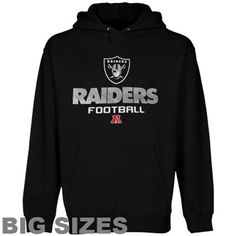 Oakland Raiders Big Sizes Critical Victory V Pullover Hoodie Sweatshirt - Black
