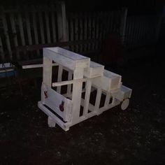 Portafiori legno riciclato