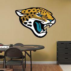 Jacksonville Jaguars Logo REAL.BIG. Fathead Wall Graphic | Jacksonville Jaguars Wall Decal | Sports Décor | Football Bedroom/Man Cave/Nursery