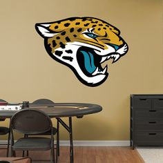Jacksonville Jaguars Logo REAL.BIG. Fathead Wall Graphic | Jacksonville Jaguars Wall Decal | Sports Décor | Football Bedroom/Man Cave/Nursery
