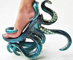Octopus-Inspired Stilettos - These Unusual High Heels Feature Intricate Octopus . - Octopus-Inspired Stilettos – These Unusual High Heels Feature Intricate Octopus Tentacles (GALLERY) Source by - Funny Shoes, Cute Shoes, Me Too Shoes, Weird Shoes, Awesome Shoes, Crazy Heels, Shoe Boots, Shoes Heels, High Shoes