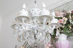 Wow, this designer made a beautiful chandelier.  I'll take one please :-)