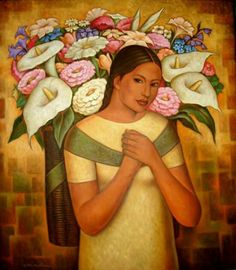 Beautiful Artwork by Diego Rivera. Diego Rivera Art, Diego Rivera Frida Kahlo, Mexican Artwork, Mexican Folk Art, Mexican Paintings, Moritz Von Schwind, Frida E Diego, Art Espagnole, Arte Latina