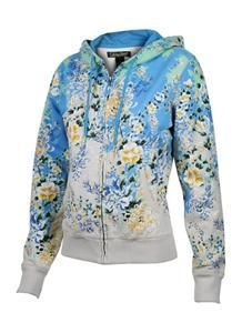 Lucky Brand Blue Floral Hoodie (as worn by Penny on The Big Bang Theory)