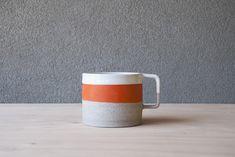 Pawena Studio Metro Bright Orange Band Mug - Juby Store