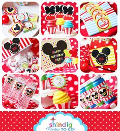 Mickey Mouse candy bars and water bottles, so cute!