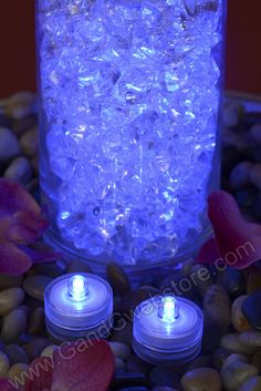 SUBMERSIBLE LIGHT BLUE PKG/12, GandGwebStore.com has a wide variety of lights in different colors for all your decoration needs. $20 for 12