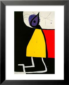 Dona En La Nit Affiches par Joan Miró sur AllPosters.fr