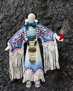 'horse doll' traditional plains-style Native American art doll by Tatakwan