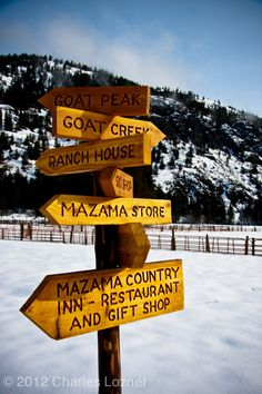 Trail sign in Mazama, WA. Perhaps, my favorite destination.