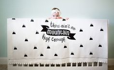 You know all those printed swaddles you've seen lately? We have a tutorial for the sweetest There Ain't No Mountain High Enough DIY blanket. Wood Wall Nursery, Baby Shower Gifts, Baby Gifts, Gender Reveal Announcement, Project Nursery, Nursery Design, Mom And Baby, Free Design, Playroom
