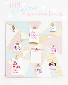 A Bubbly Life: DIY Geometric Organization Inspiration Board