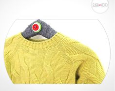 Gorgeous winter jumper by Kuxo Round neck, aran style in a stunning lime colour.