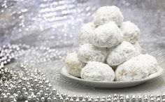 Kourabiedes, or Greek Cookies, are a staple dessert at all special occasions. Greek Sweets, Greek Desserts, Greek Recipes, Kourabiedes Recipe, Koulourakia Recipe, Greek Cookies, Almond Cookies, Greek Food Festival, Powdered Sugar Cookies