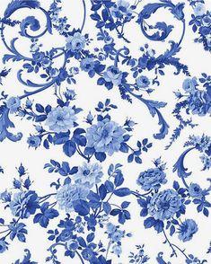 Blue Flower Wallpaper, Butterfly Wallpaper, Print Wallpaper, Pattern Wallpaper, Flower Backgrounds, Wallpaper Backgrounds, Wallpapers, Flower Pattern Drawing, Molduras Vintage