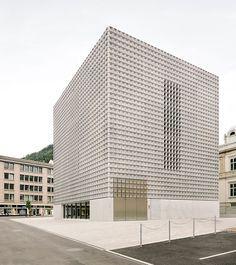 *모놀리틱 콘크리트 파사드 [ barozzi veiga ] monolithic extension to the fine arts museum in chur :: 5osA: [오사]