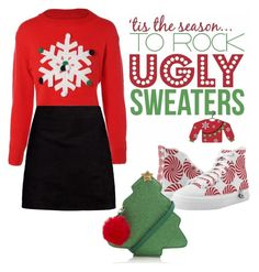 snowflake sweater by janesmiley on Polyvore featuring polyvore, fashion, style, Boohoo, George and clothing