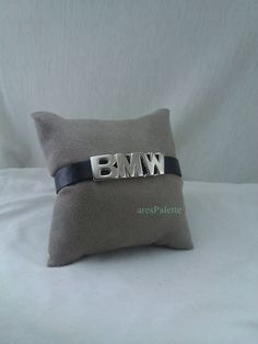 BMW Bracelet - 925 Silver Handmade BMW sign and lock system. White Gold Plating / Free Standart International Shipping by aresPalette on Etsy