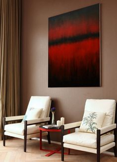 Abstract Oil Painting Wall Art CanvasRed Abstract от juliakotenko