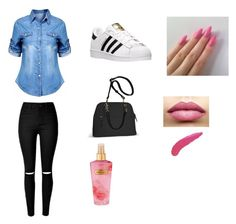 """School outfit"" by yasminael on Polyvore featuring mode, adidas, Avenue, TheBalm en Victoria's Secret"