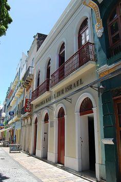"""Sinagoga mais antiga da América Latina: """"Kahal Zur Israel"""". Rua do Bom Jesus, Bairro do Recife Antigo. Recife. Estado de Pernambuco, Brasil."""