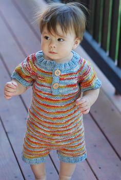 Rhino Romper Knitting Pattern.