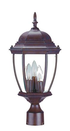 Visit The Home Depot to buy Acclaim Lighting Wexford Collection Post-Mount Outdoor Matte Black Light Fixture Outdoor Post Lights, Outdoor Lighting, Lamp Post Lights, Lantern Set, Wall Mounted Light, Traditional Lighting, Light Bulb Types, Exterior Lighting, Beveled Glass