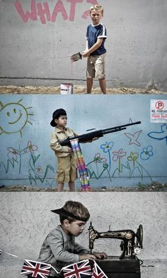 Artist Nick Stern recreates well known Banksy pieces in real life. So good.