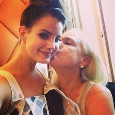 Lana and her mommy in Paris today - oh happy birthday beautiful Elizabeth! June 21