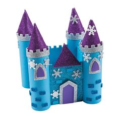 Build your own winter castle! With plenty of cool blue hues, glitter and snowflake accents, this easy-to-make castle DIY project is a royal addition to . Mothers Day Crafts For Kids, Fun Crafts For Kids, Summer Crafts, Family Crafts, Toilet Roll Craft, Kids Toilet, Paper Towel Roll Crafts, Castle Crafts, Frozen Castle