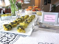 Chic French Bridal Shower Spring 2013 - Spinach & Mushroom Mini Quiches