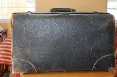 Antique Walrus Leather Suitcase - http://oleantravel.com/antique-walrus-leather-suitcase