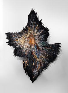 "national mosaic art exhibition 2015   Beatrice Serre 2015 ""Big Bang"" Wall Sculpture image 2"
