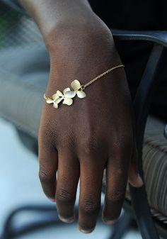 Gold Flower Bracelet