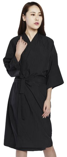 Salon Client Gown Hairdressing Gowns Kimono Style- 43\' Long (Black ...