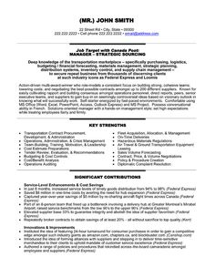Sample resume, Resume and Warehouses on Pinterest