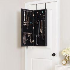 Mirrotek Eva48india Over The Door Combination Jewelry And Makeup