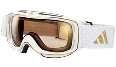 adidas ID2 Pure Ski Goggles - Shiny White / LST Active Gold Light